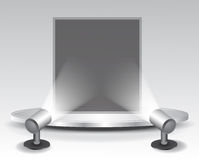 3d podium with light Royalty Free Stock Photo
