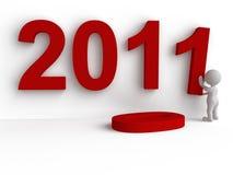 3d pojęcie nowy rok Obrazy Stock