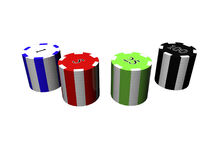 3D Poker chips Royalty Free Stock Photo