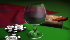 3D Poker Still Life Royalty Free Stock Photos