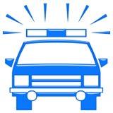 3D Police Car Stock Photo