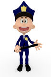 3D police man Royalty Free Stock Image