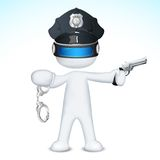 3d Police Man in vector Royalty Free Stock Photo