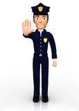 3D policeman Stock Photography