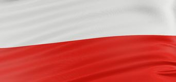 3D Polish flag Stock Photos
