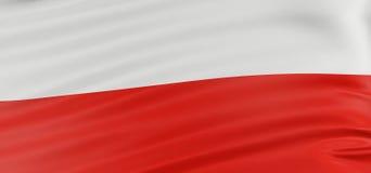 3D Polish flag vector illustration