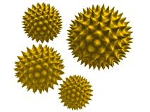 3d pollen Royalty Free Stock Photography