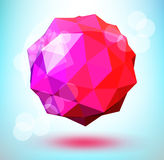 3d polygonal shape. Abstract 3d polygonal sphere vector design element Stock Image