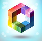 3d polygonal shape Stock Photo