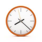 3D pomarańcze zegar Zdjęcia Stock