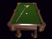 3D pool table on black Stock Photography