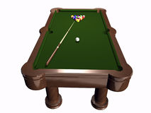 3D pool table on white Stock Images