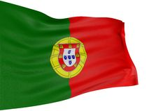 3D Portuguese flag Royalty Free Stock Photography