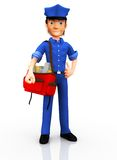 3D postman Royalty Free Stock Photo