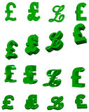 3D pound symbols Stock Photography