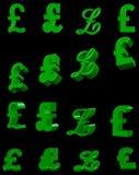 3D pound symbols Royalty Free Stock Images