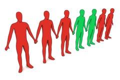 3d povos - estranhos Imagem de Stock Royalty Free