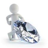 3d povos pequenos - diamante Imagem de Stock