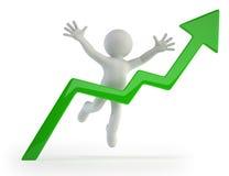 3d povos pequenos - gráfico positivo Imagem de Stock
