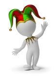 3d povos pequenos - jester Fotos de Stock