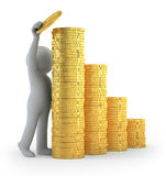 3d povos pequenos - sucesso financeiro Fotografia de Stock