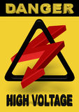 3d power sign high voltage Royalty Free Stock Photo