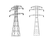 3D power towers Stock Photo