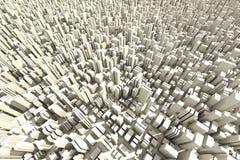 3d powietrzny miasta tłumu linia horyzontu widok Obraz Stock