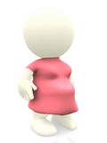 3D pregnant woman Royalty Free Stock Images