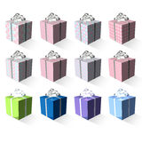 3d present box array Royalty Free Stock Photos