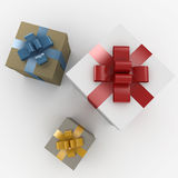 3d present boxes. Rendered isolated on white Royalty Free Stock Photo