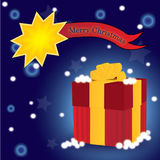 3D present christmas card Royalty Free Stock Photo