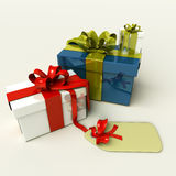 3D Presents For Christmas Or Birthday Royalty Free Stock Photo