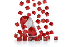 3d prezenty Claus podeszczowy Santa Fotografia Royalty Free