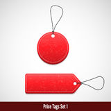 3D Price tags set one. Vector illustration for your design Stock Photography