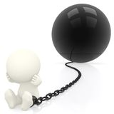 3D Prisoner in chains Stock Image