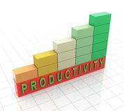 3d productivity propgress bars. 3d reflective progress bars with text 'productivity Stock Image