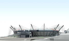3d project stadium Royalty Free Stock Images