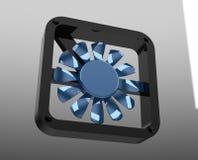 3D propeller fan. 3D visualization propeller fan air Royalty Free Stock Photo
