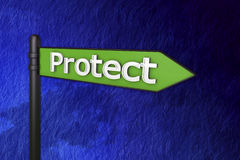 3d protect signs Royalty Free Stock Image
