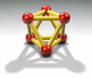 3d Proton Royalty-vrije Stock Afbeeldingen