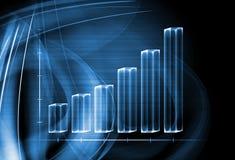 3d przejrzysty prętowy wykres Fotografia Stock