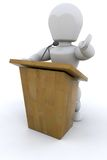 3D Public speaker Stock Images