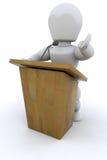 3D Public speaker Stock Images