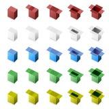 3d pudełka zakończenia otwarty krok Fotografia Stock