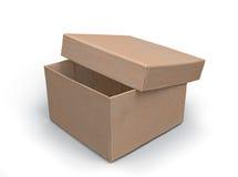 3d pudełkowatego połówki modela otwarty papier Fotografia Stock