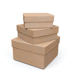 3d pudełek modela papieru set Zdjęcia Stock