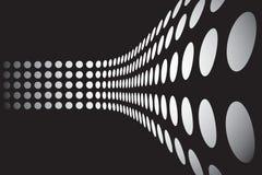 3D punteggia la disposizione della parete Fotografie Stock Libere da Diritti