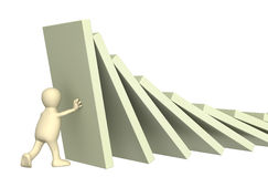 Free 3d Puppet, Holding Figures Of A Dominoes Royalty Free Stock Photo - 6553955