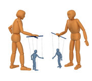 3D Puppets - people, managing dolls - puppets Stock Photos